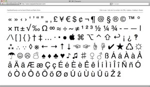 keyboard special characters